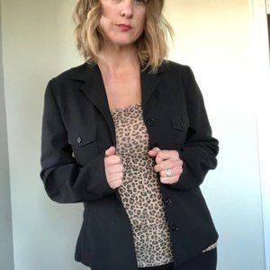 FRENCH CONNECTION Military Style Blazer
